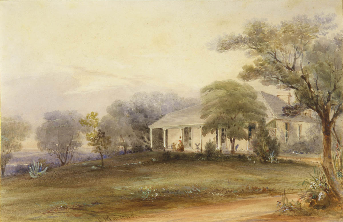 'A country residence, New South Wales'  by Conrad Martens