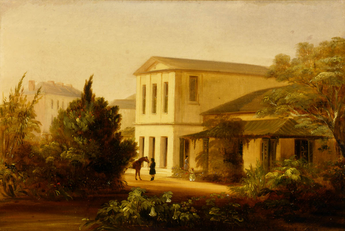 Dr Mitchell's residence, Cumberland Place, The Rocks, Sydney / Conrad Martens / 1842