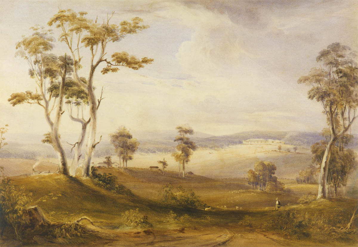 [View of Throsby Park] / Conrad Martens, ca.1836