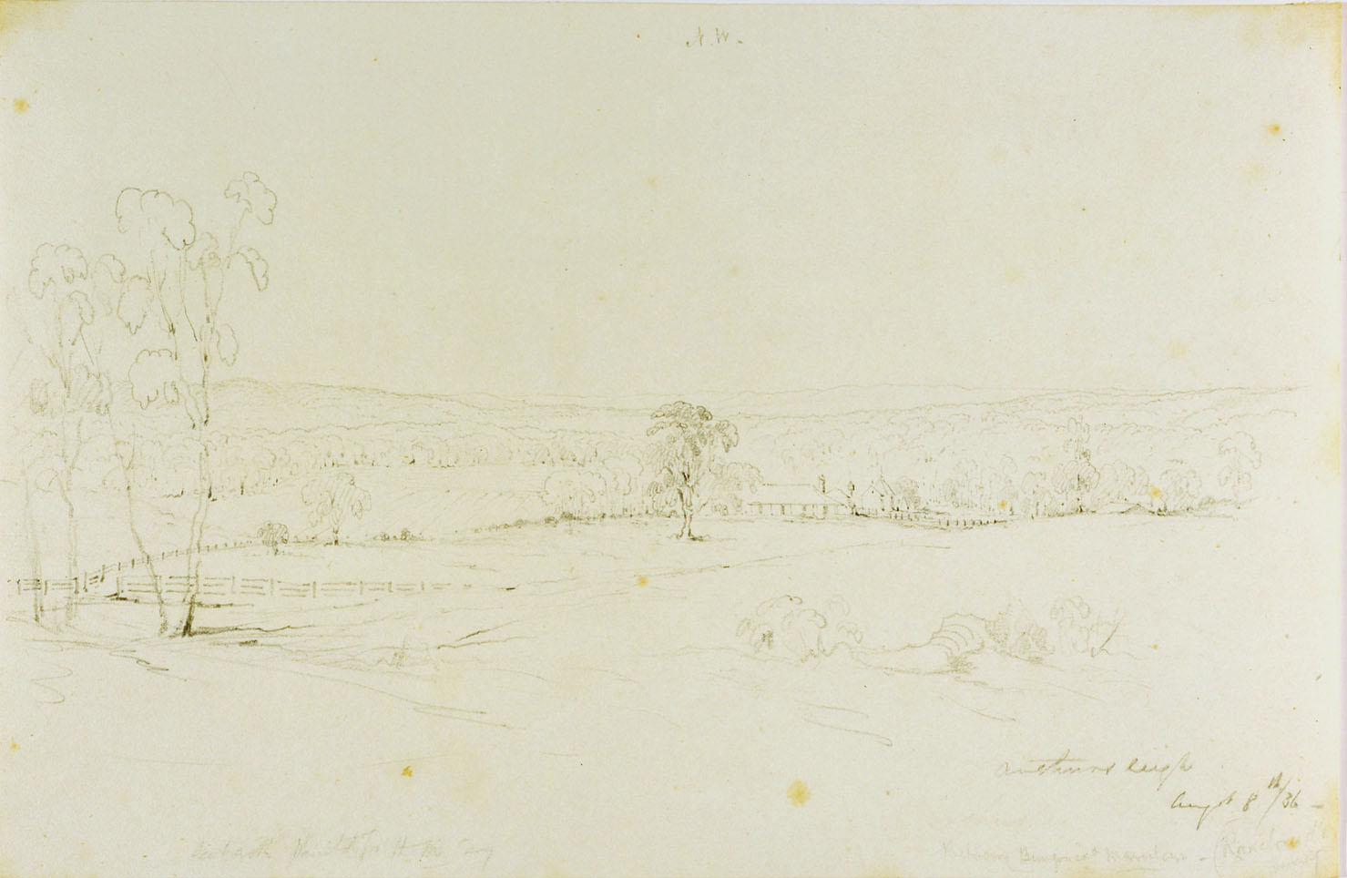Arthursleigh/ August 8th 1836 / drawn by Conrad Martens