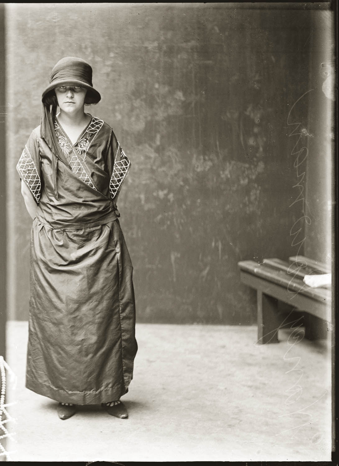 Mug shot of Nancy Cowman, 21 February 1924, probably Central Police Station, Sydney.