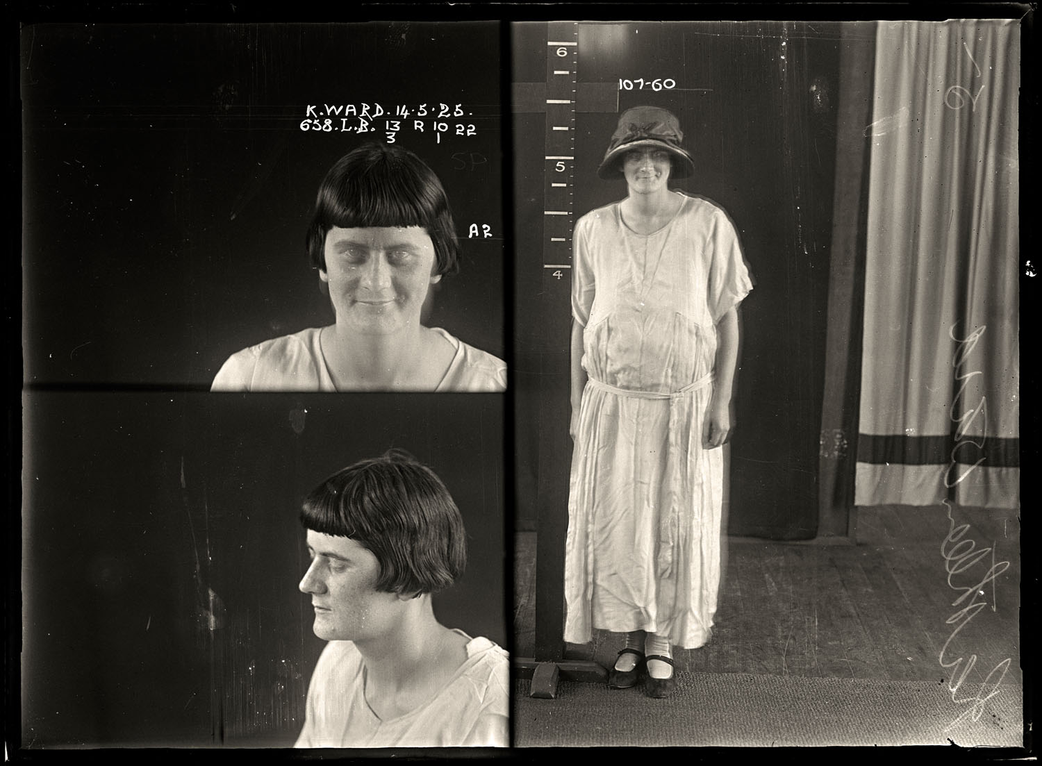 Kathleen Ward, criminal record number 658LB, 14 May 1925. State Reformatory for Women, Long Bay.
