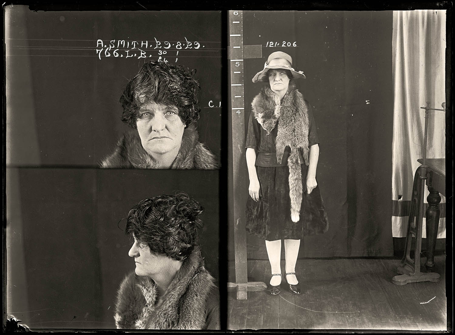 Alma Henrietta Agnes Smith, criminal record number 766LB, 29 August 1929. State Reformatory for Women, Long Bay, NSW