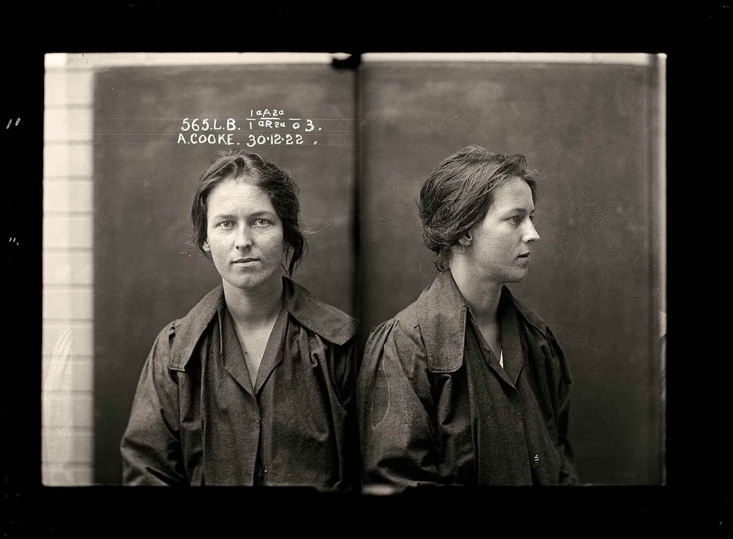 Alice Adeline Cooke, criminal record number 565LB, 30 December 1922. State Reformatory for Women, Long Bay, NSW