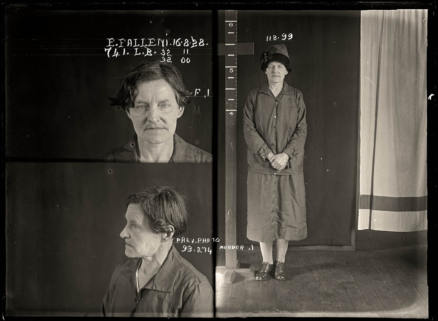 Eugenia Falleni, alias Harry Crawford, criminal record number 741LB, 16 