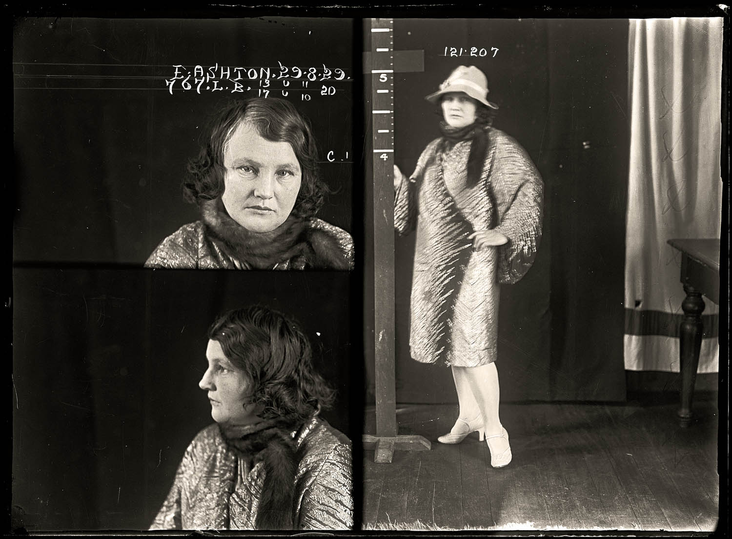 Edith Florence Ashton, criminal record number 767LB, 29 August 1929. State Reformatory for Women, Long Bay, NSW