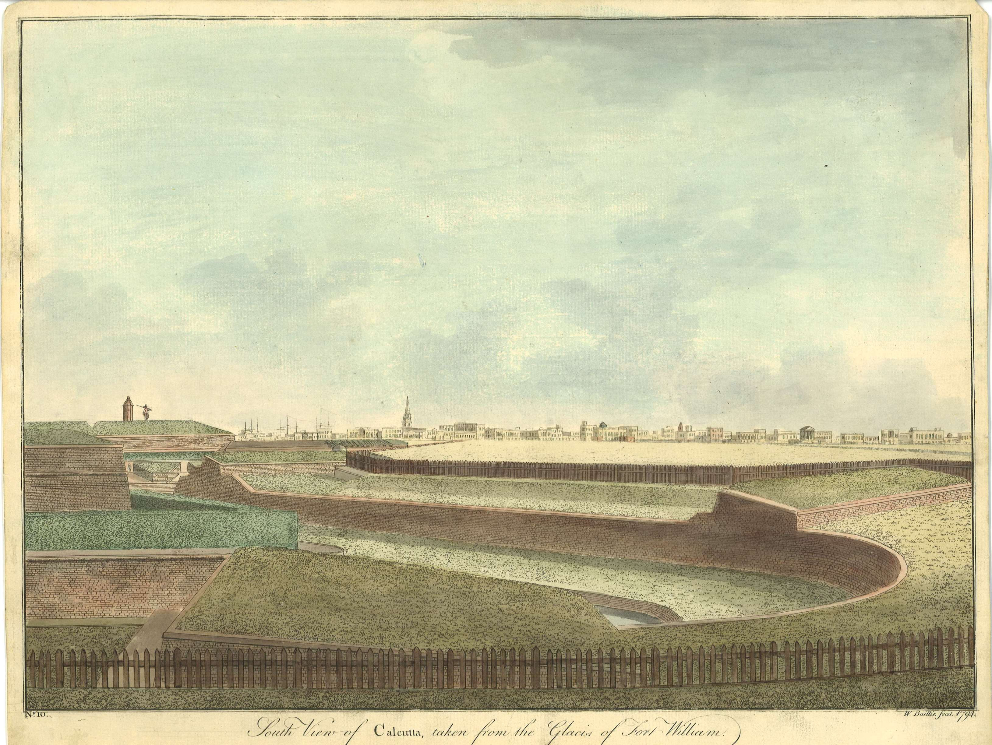 South view of Calcutta, taken from the Glacis of Fort William / W. Baillie