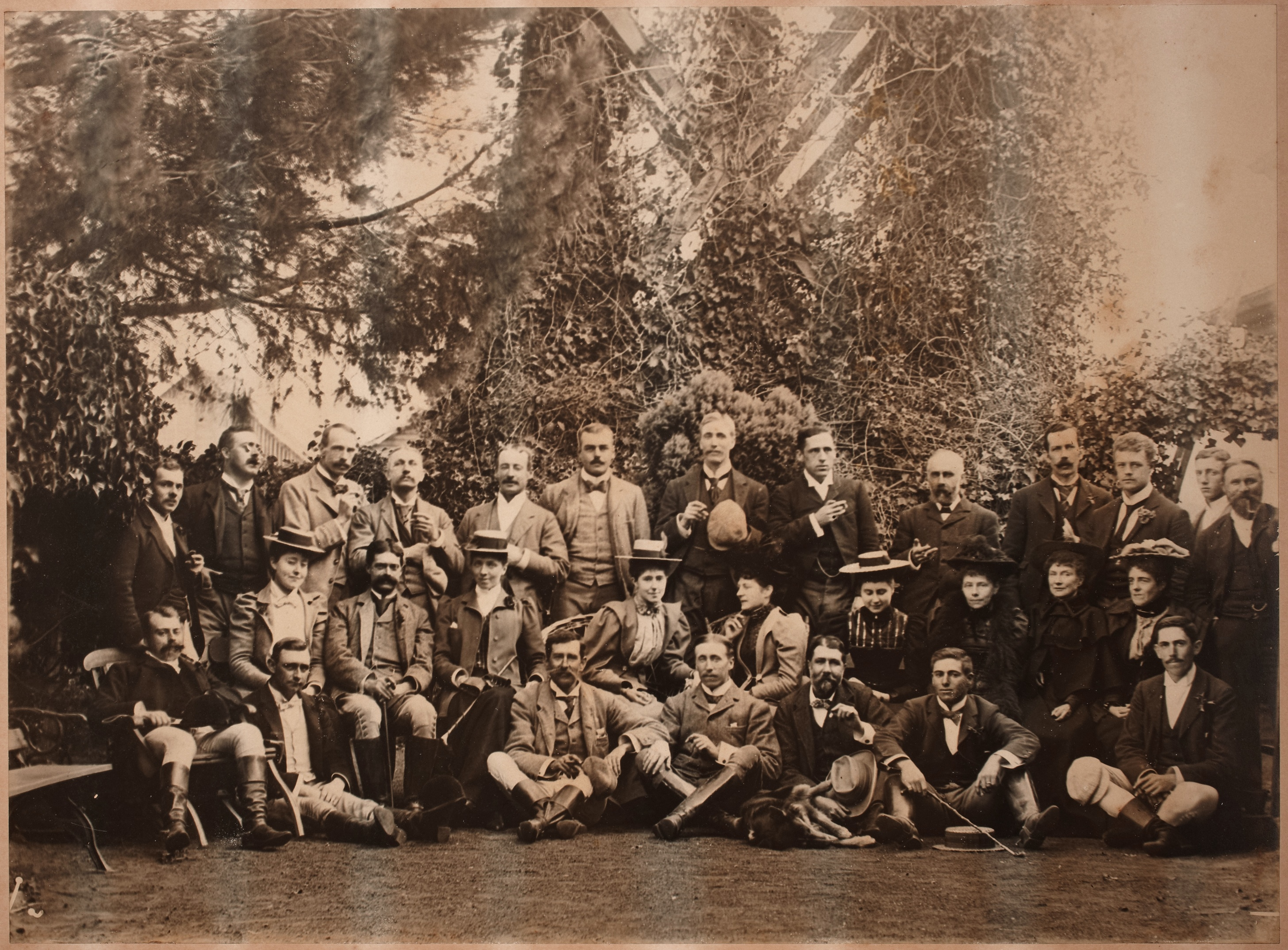 A group after the Hunt, Rouse Hill, 18 July 1895 / photographer unknown