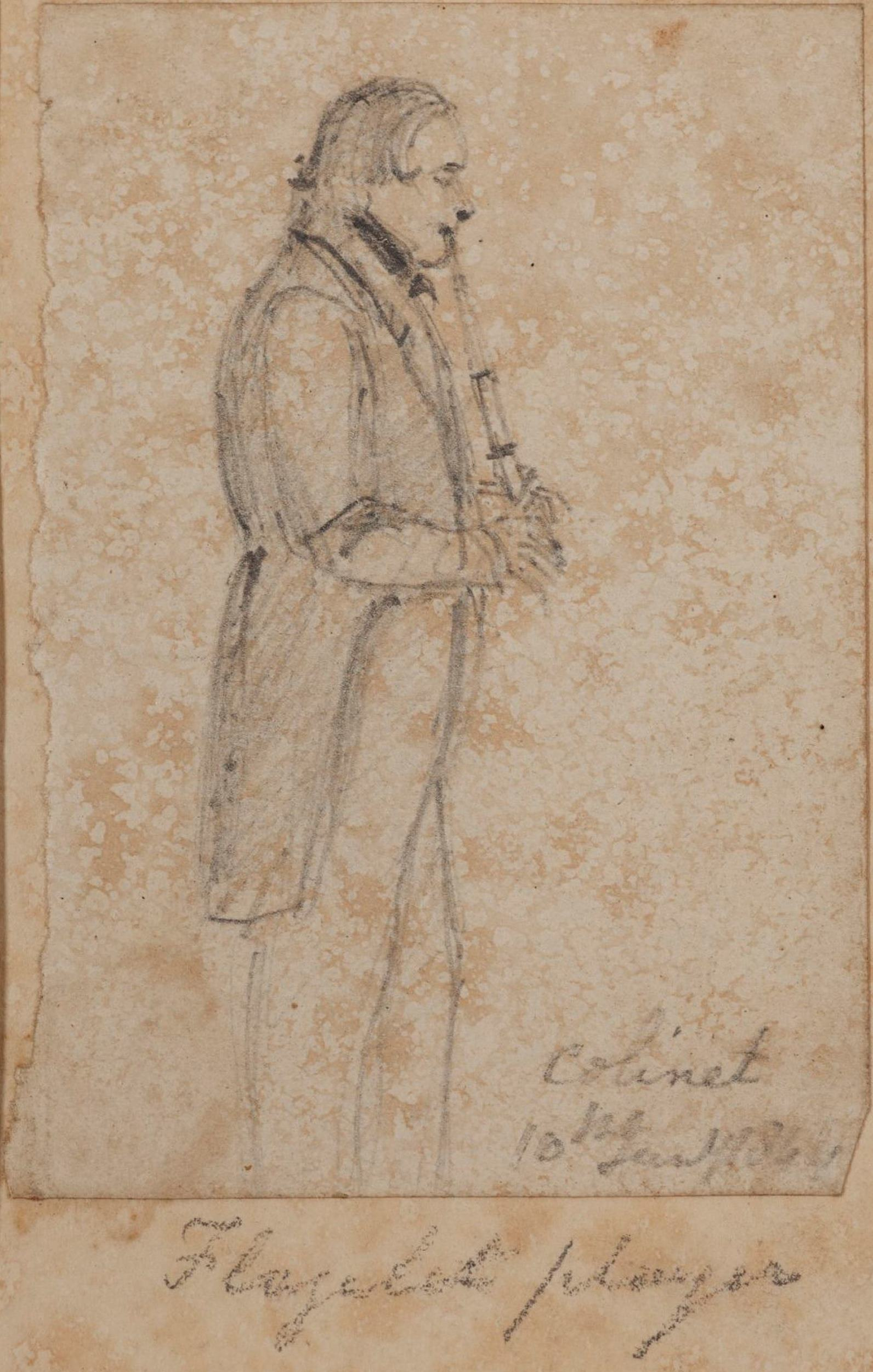 Flageolet player, Colinet, 10th January 1844 / Thomas Wingate (attrib.)