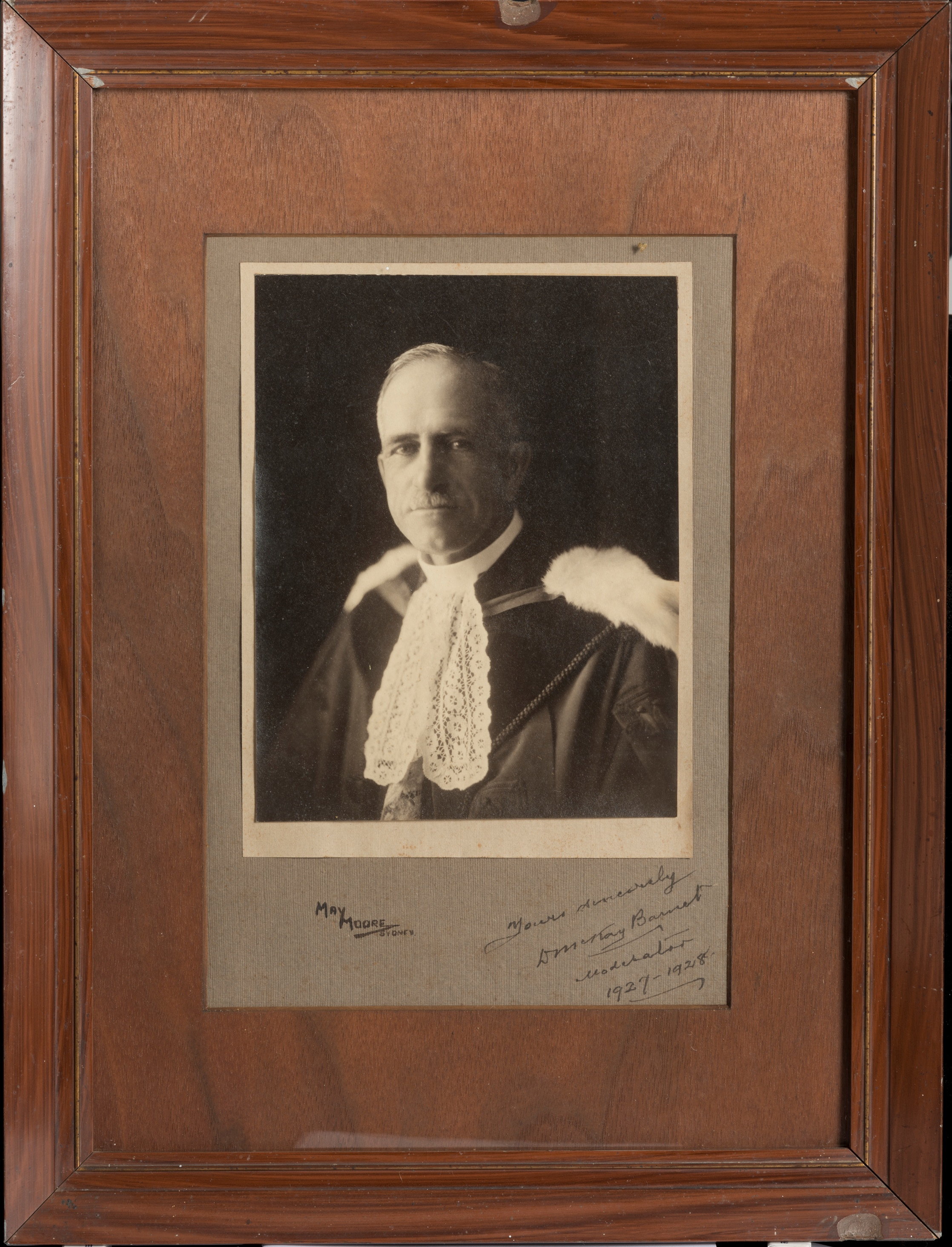 Rev Donald McKay Barnet, Moderator of the Presbyterian Church in New South Wales,1927-1928 / May Moore, Sydney