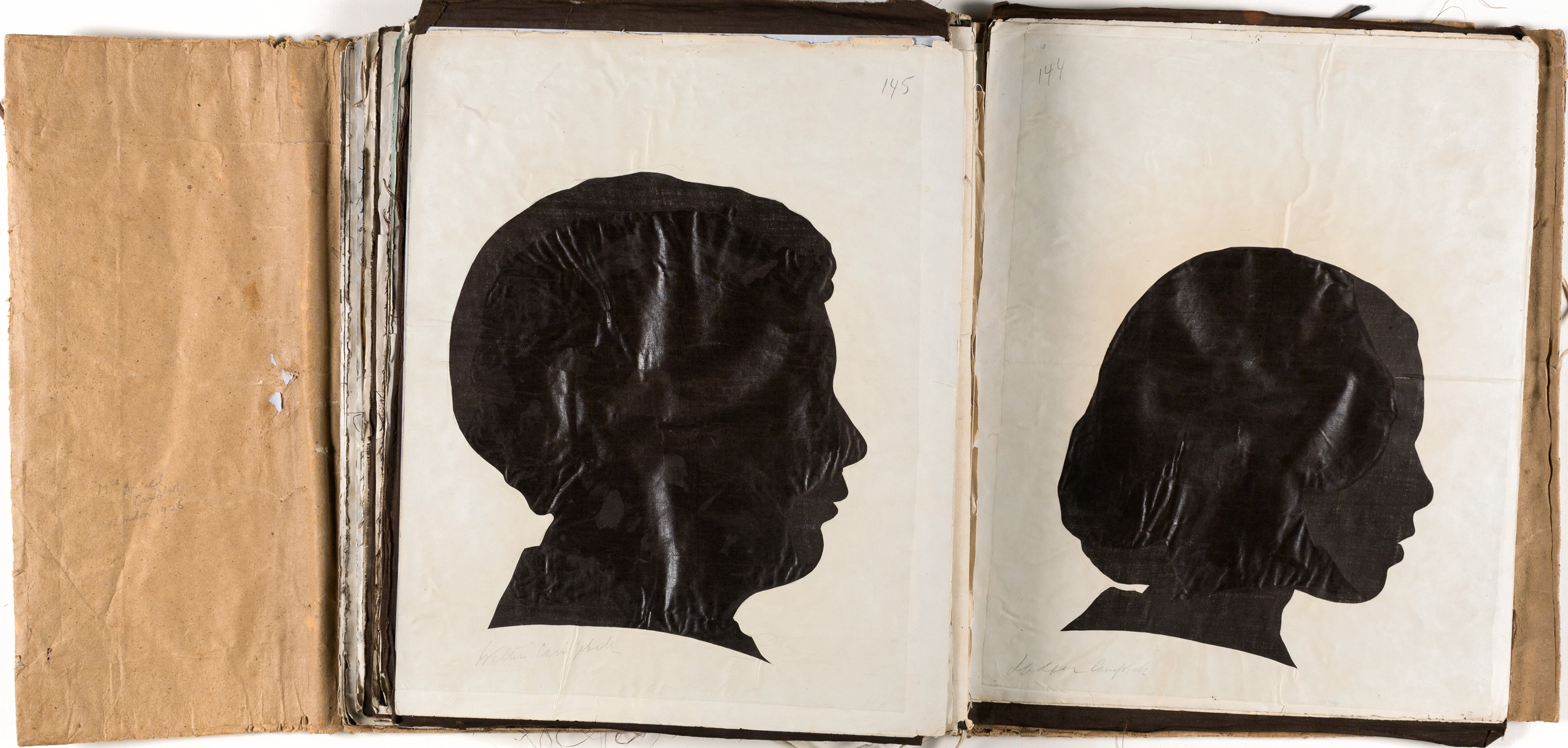 Silhouette likenesses of (left) Walter Campbell (1838-1860) and (right) Susan Campbell (1843-1930) / by Marianne Collinson Close