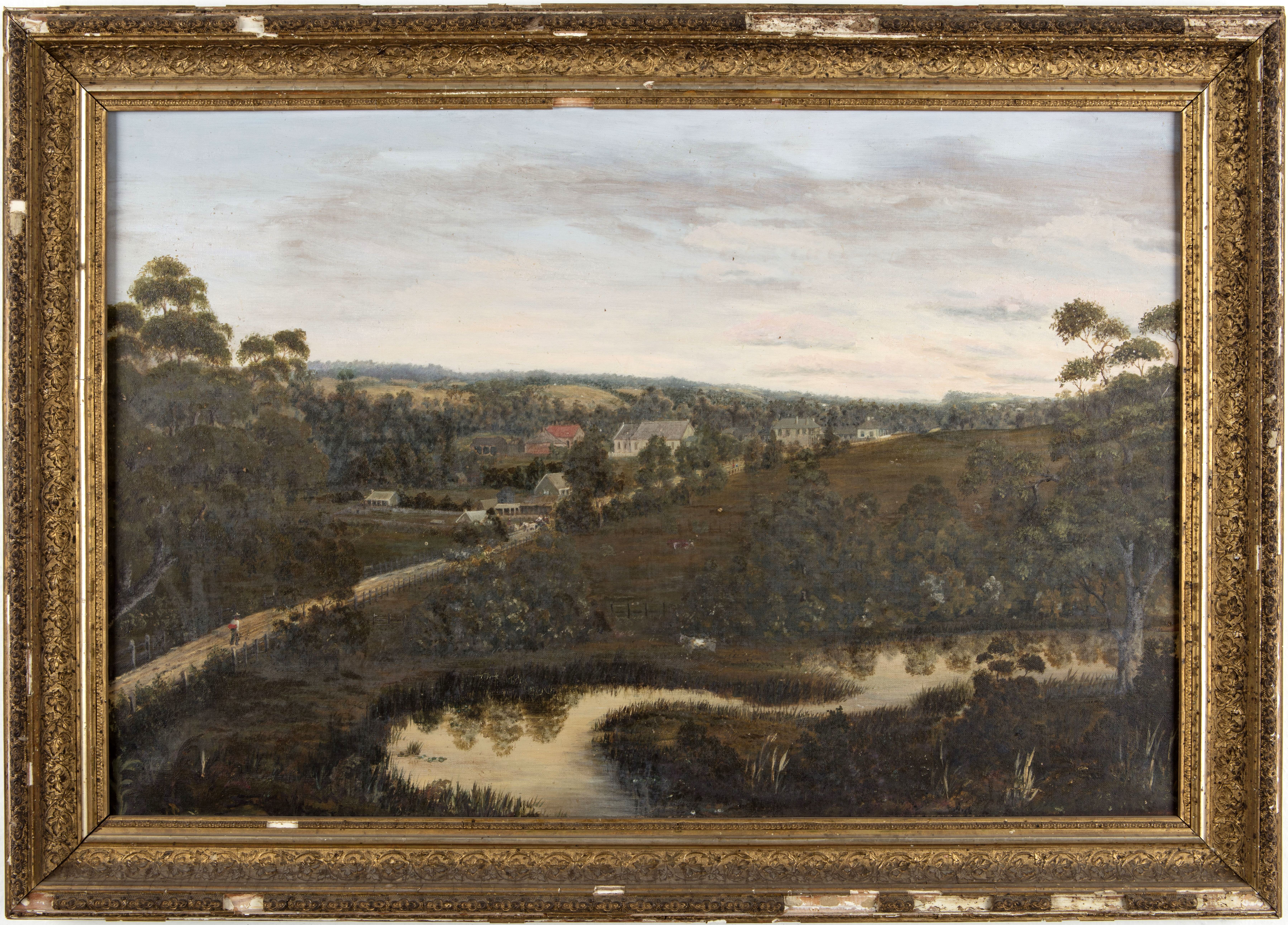 View from Rouse Hill House above Second Ponds Creek, looking south-east along the [old] Windsor Road / Bessie Rouse (attrib.)