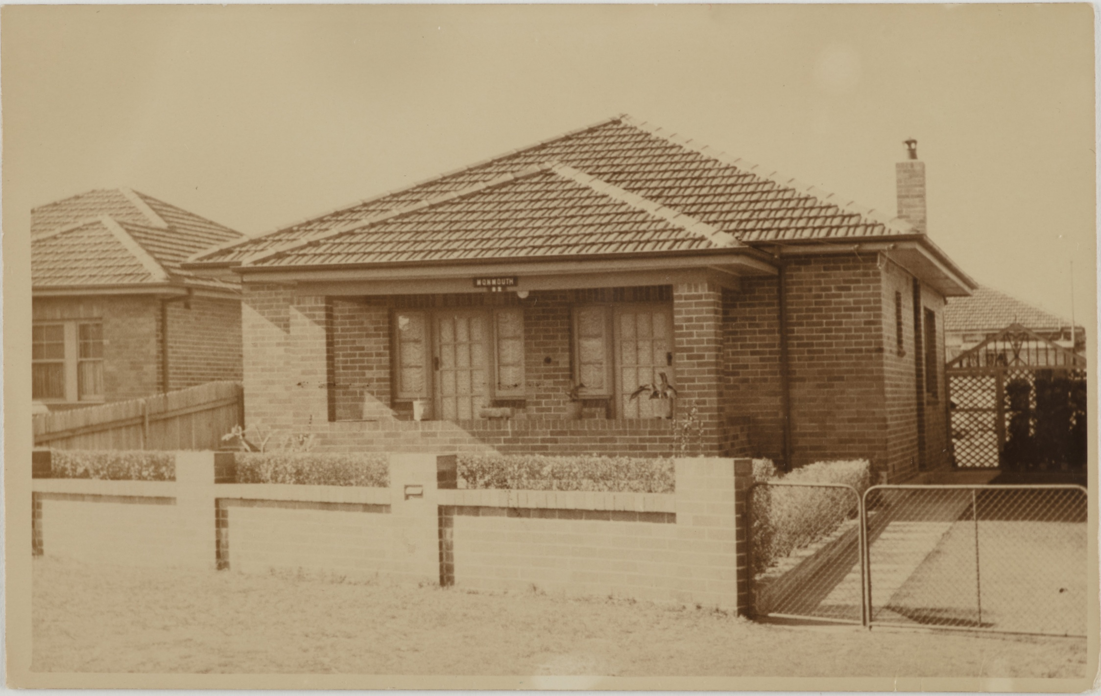 Monmouth, number 82 Florence Avenue, Eastlakes, around 1937 / photographer unknown