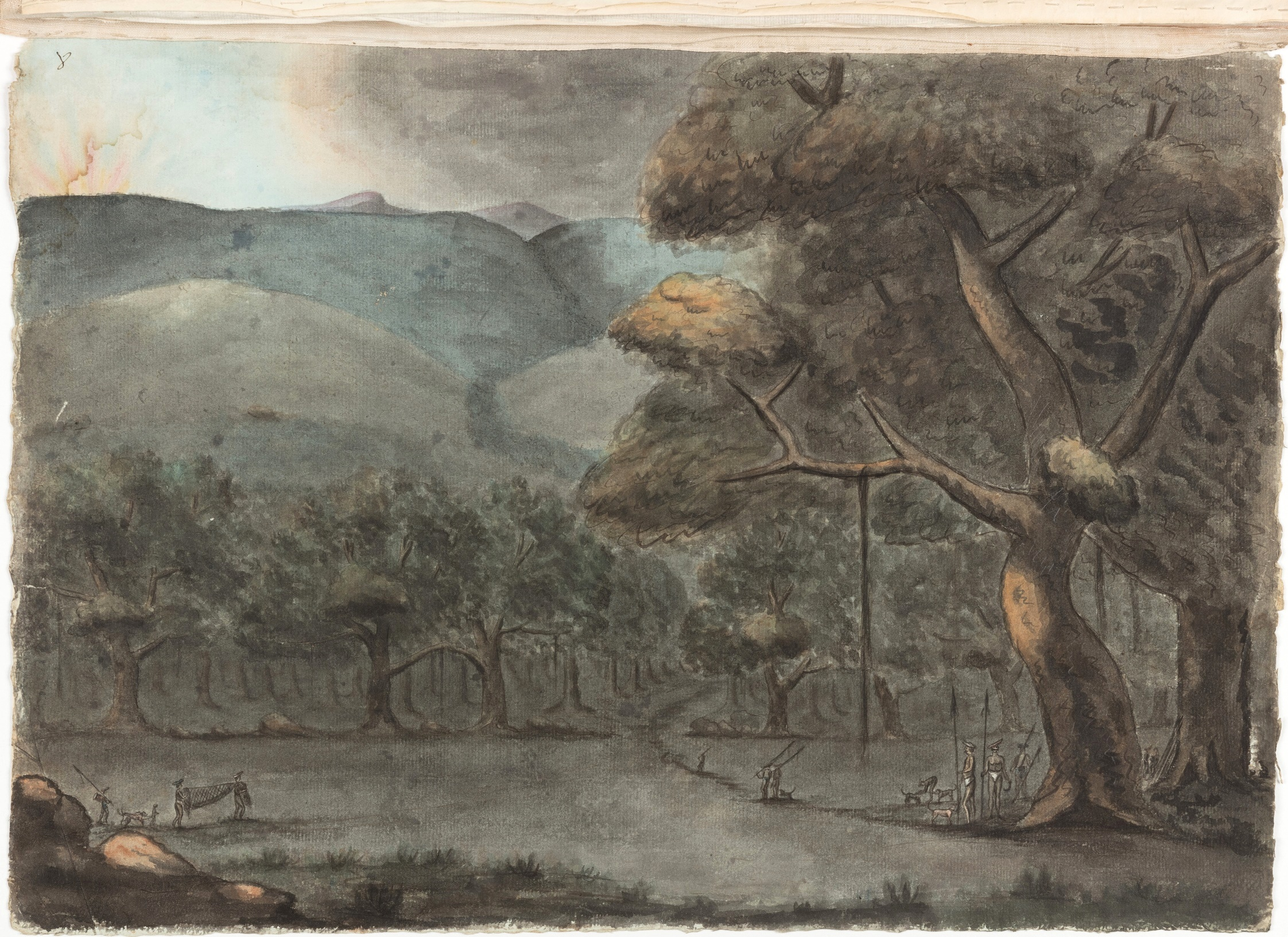 Entrance at the Bottom of the Hills to the Shivighurry Pollums or Comby (Strongholds in the Valleys) – Evening / Thomas Marriott