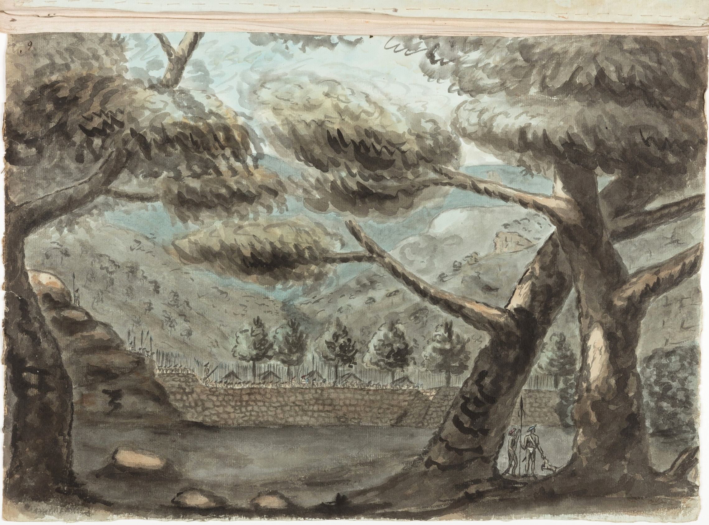 Barrier in Shivighurry Pollum defended by the Rajah against Col Maxwell's detachment / Thomas Marriott