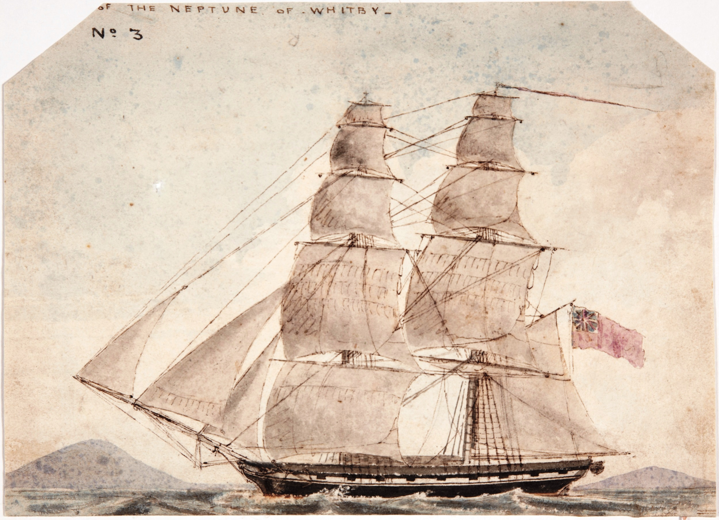 No. 3 Sketch of the Neptune of Whitby / Edmund Pink / 3 February 1820