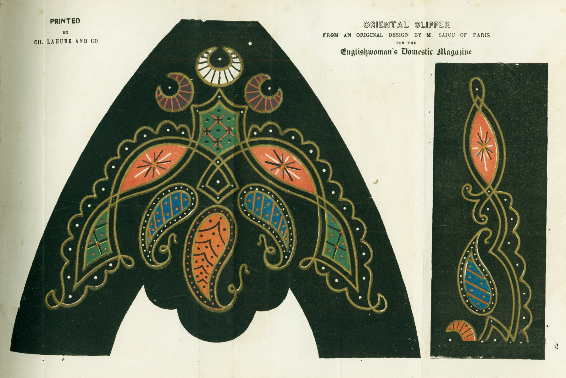 Oriental slipper pattern