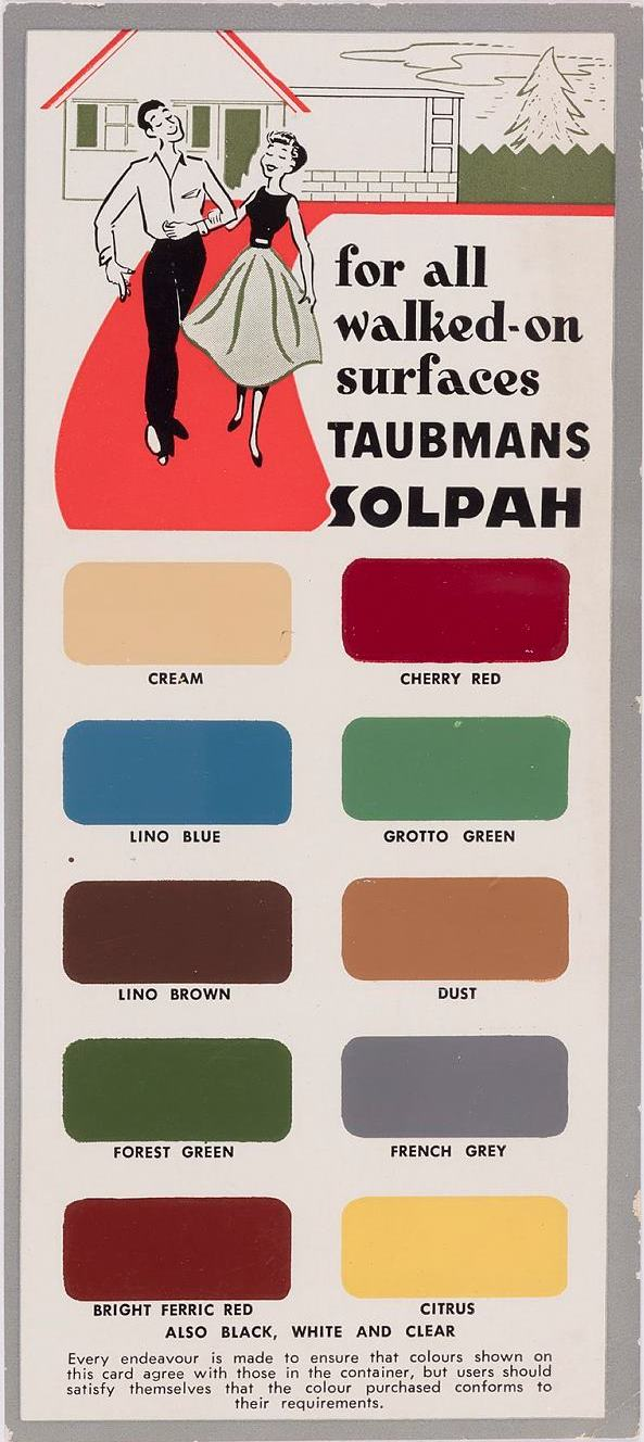 Caroline simpson library research collection sydney living for all walked on surfaces taubmans solpah taubmans industries limited colour chart geenschuldenfo Choice Image
