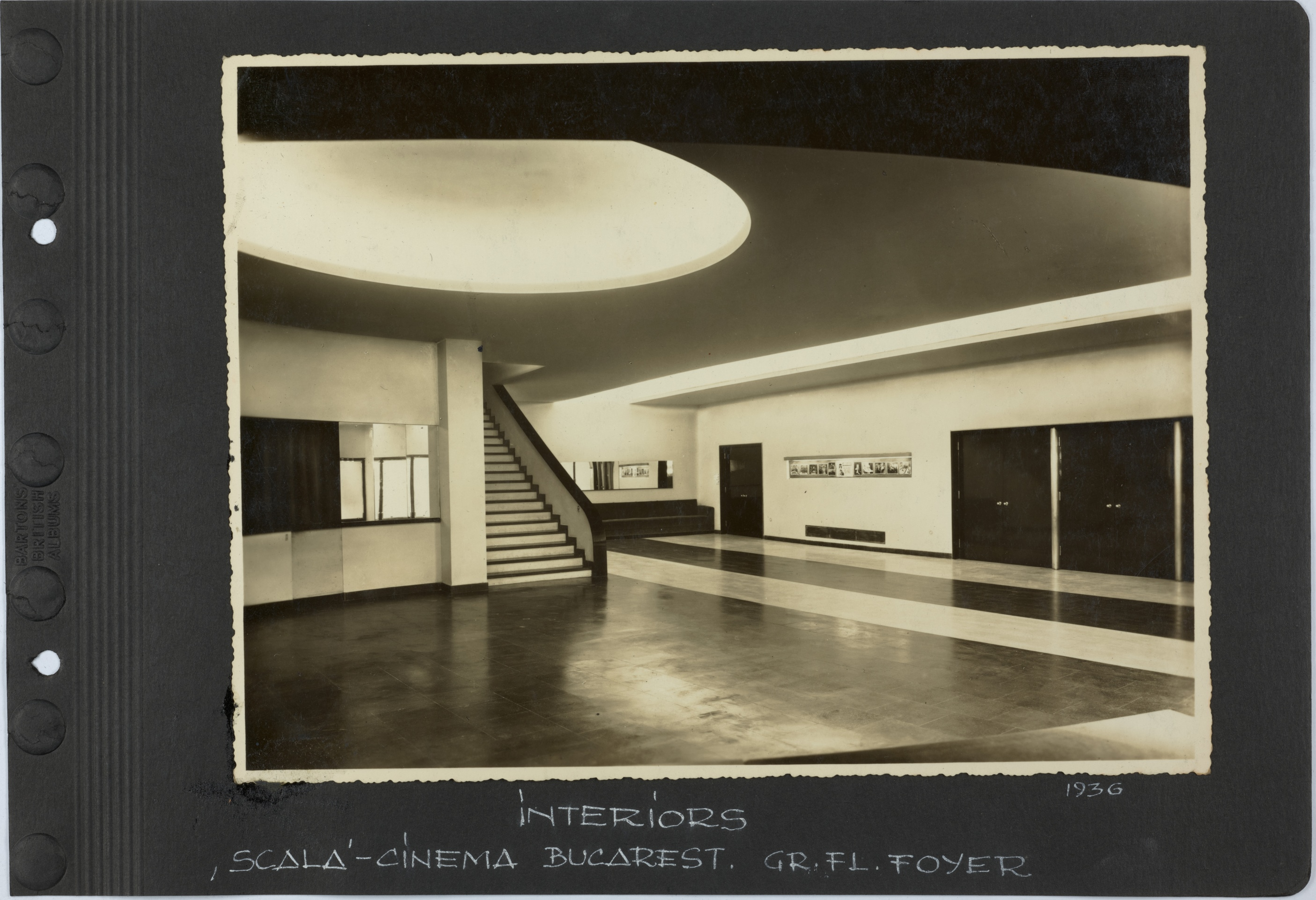 Scala Cinema Bucarest. Gr .fl. foyer, 1936