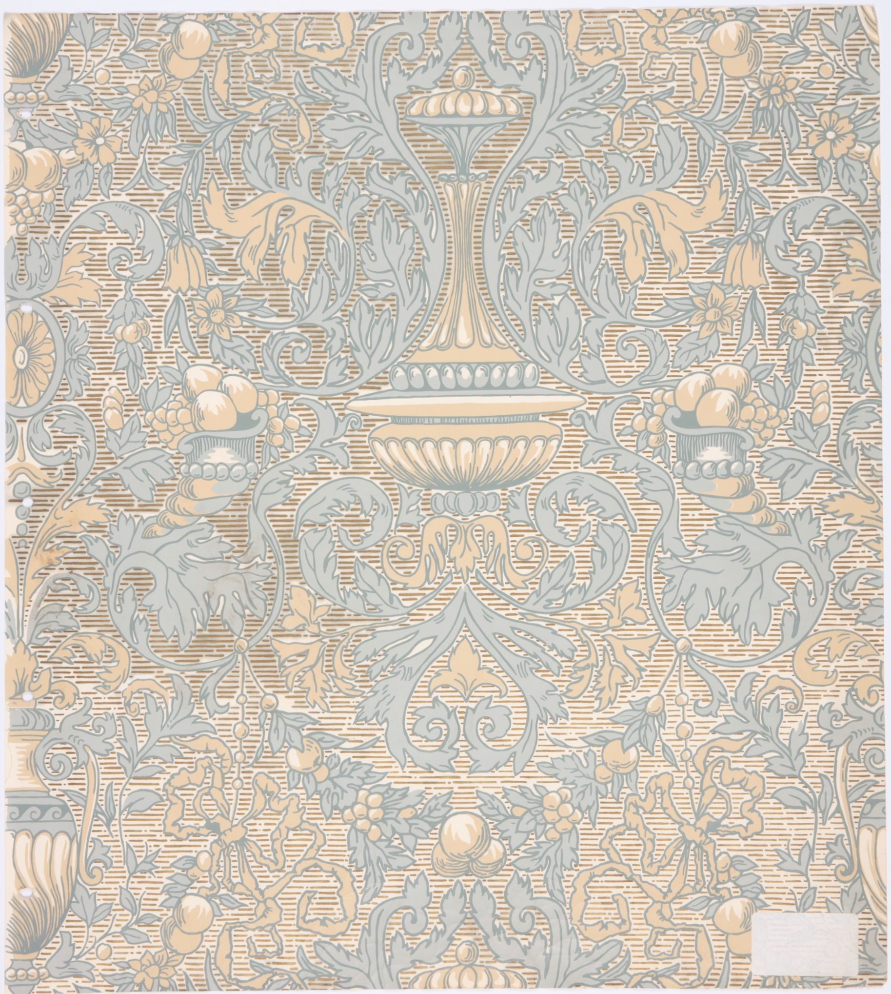 Wallpaper recreated for the Legislative Council Chamber, Parliament House, Sydney