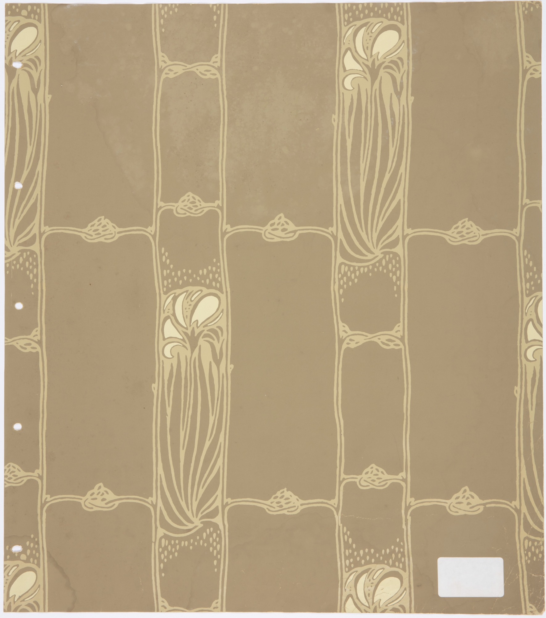 Art nouveau design wallpaper recreated from fragments found in Parliament House, Sydney